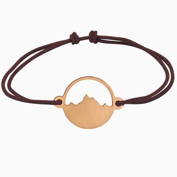 Alpenblick Armband Vergoldet Braunes Band Freigestellt Webseite 2020