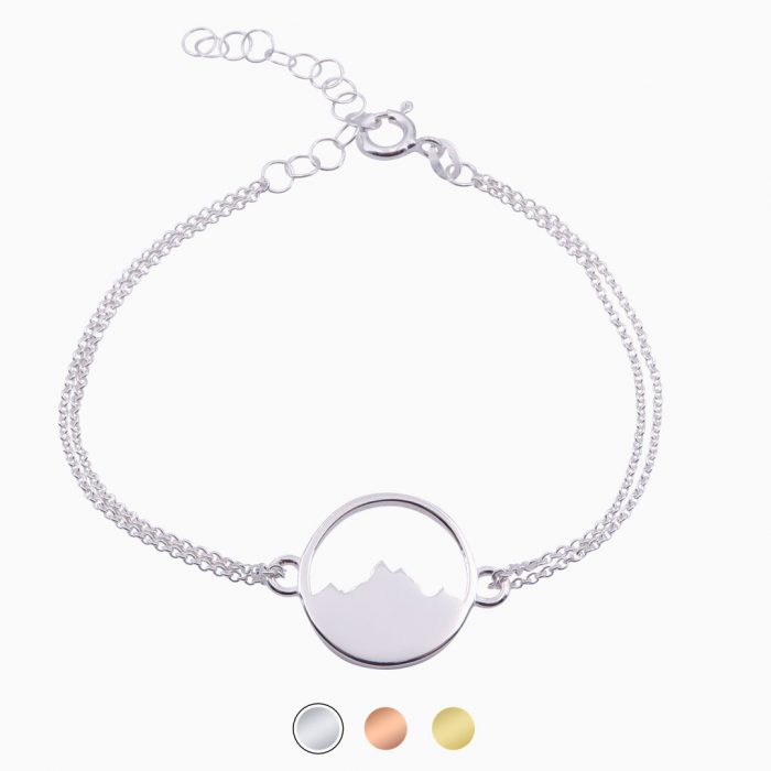Alpenblick Armband mit Kettchen Silber Buttons Neu Freigestellt Webseite Sept 2020