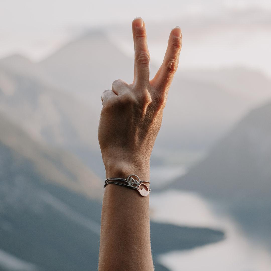 Höhenlinien Armband Alpenblick Armband Nicole