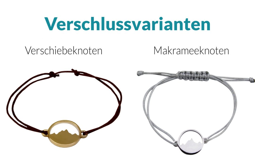 Armband Verschlussvarianten Alpenblick Armband