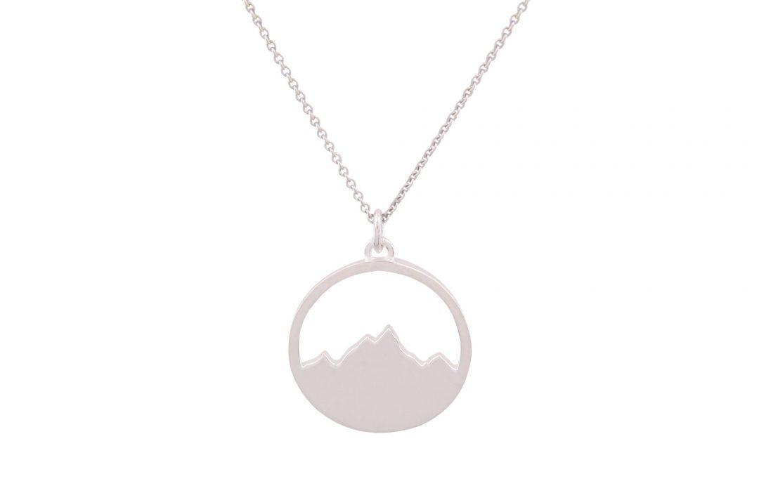 Fjella Alpenblick Kette Silber, Bergschmuck, Bergkette, Kette mit Bergmotiv