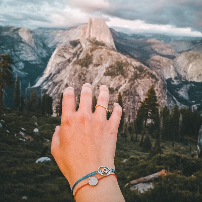 Höhenlinien Armband Yosemite Half Dome Paula