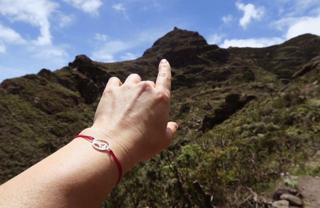Fjella Höhenlinien Armband, Silber, Teneriffa, Bergschmuck