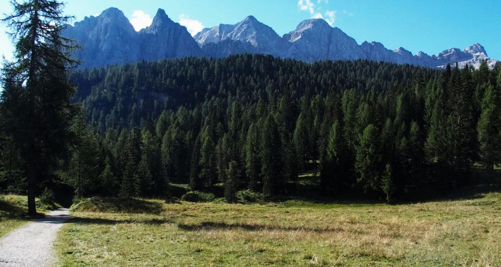 Start des Wanderweges am Tre Croci Pass