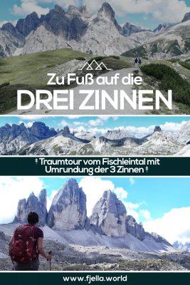 Zu Fuß auf die 3 Zinnen, Dolomiten, Südtirol, Wandern