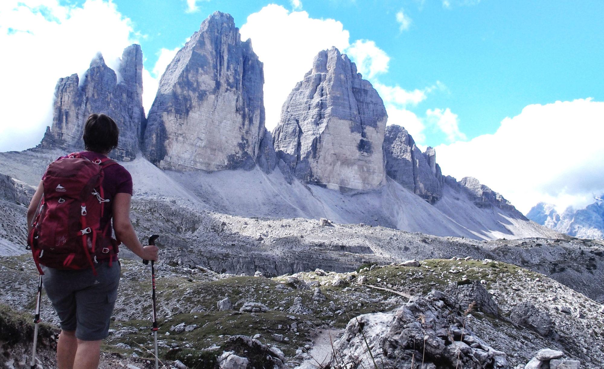 Angekommen beim Wahrzeichen der Dolomiten: den Drei Zinnen