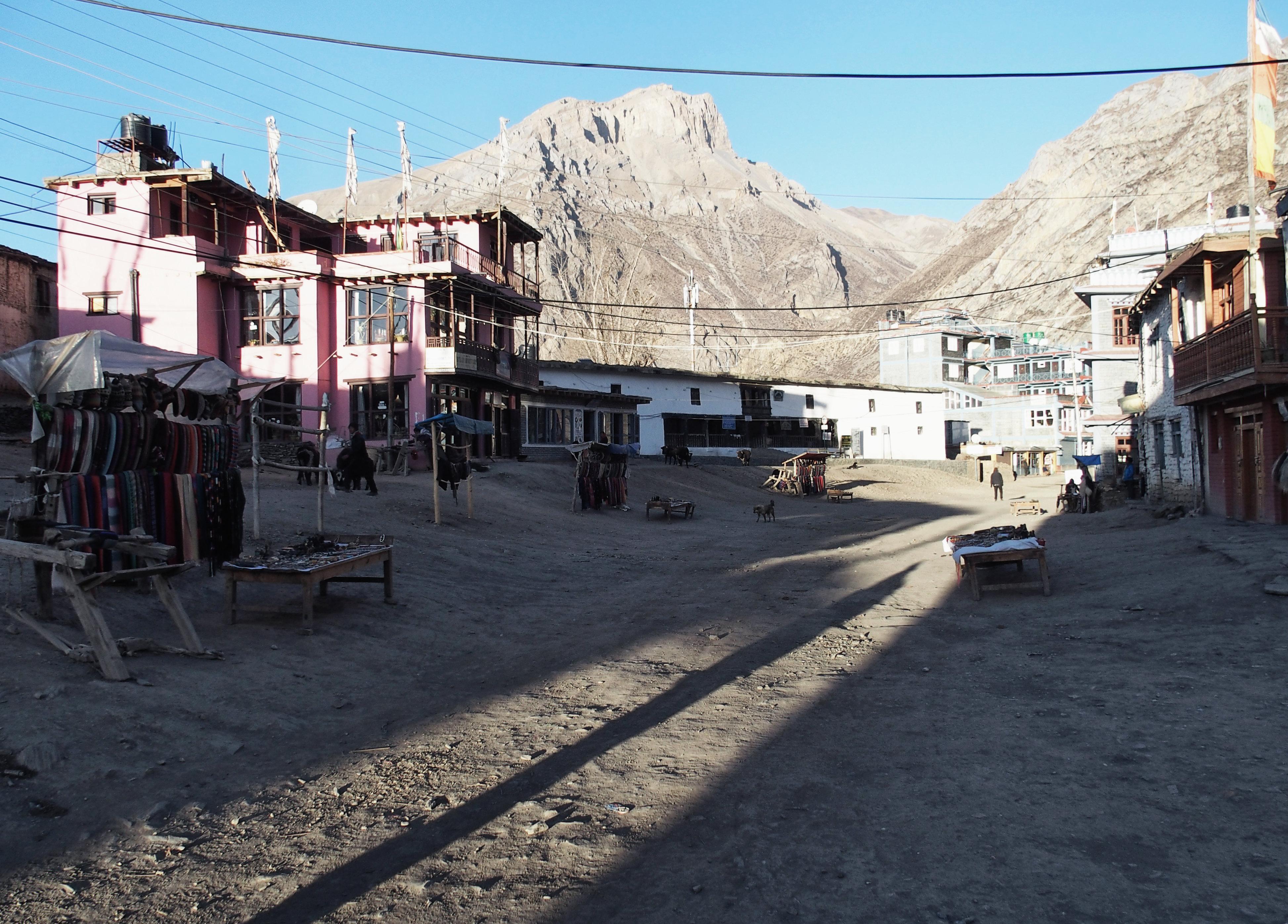 In den Straßen von Muktinath