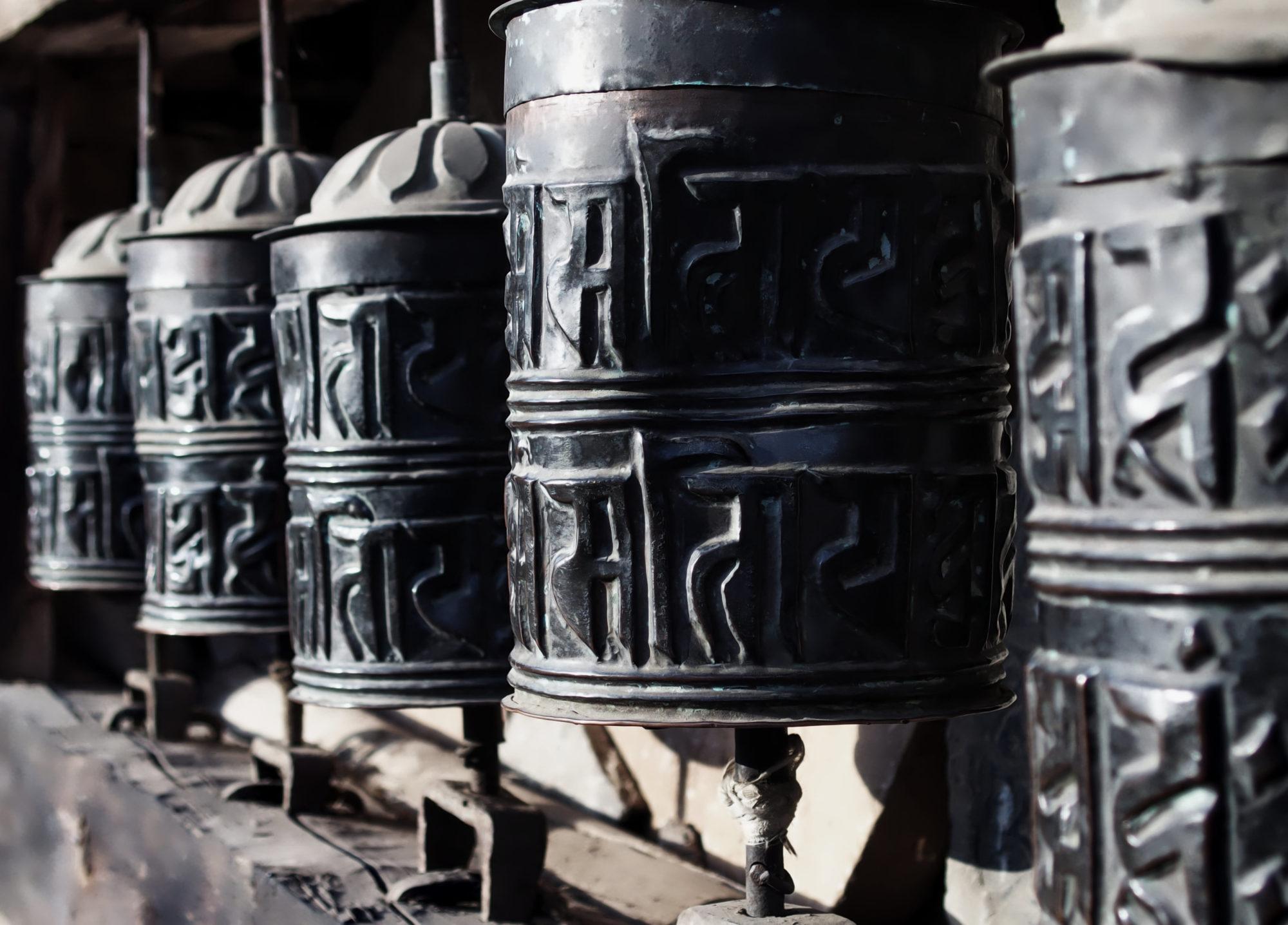 Gebetsmühlen in Ghyaru