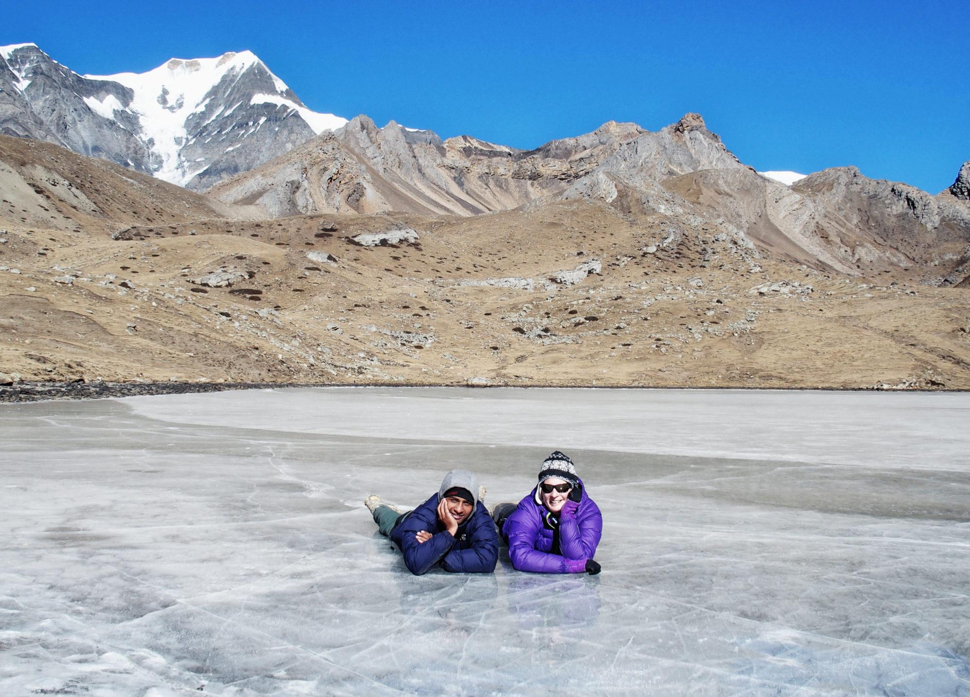 Spaß auf dem Ice Lake