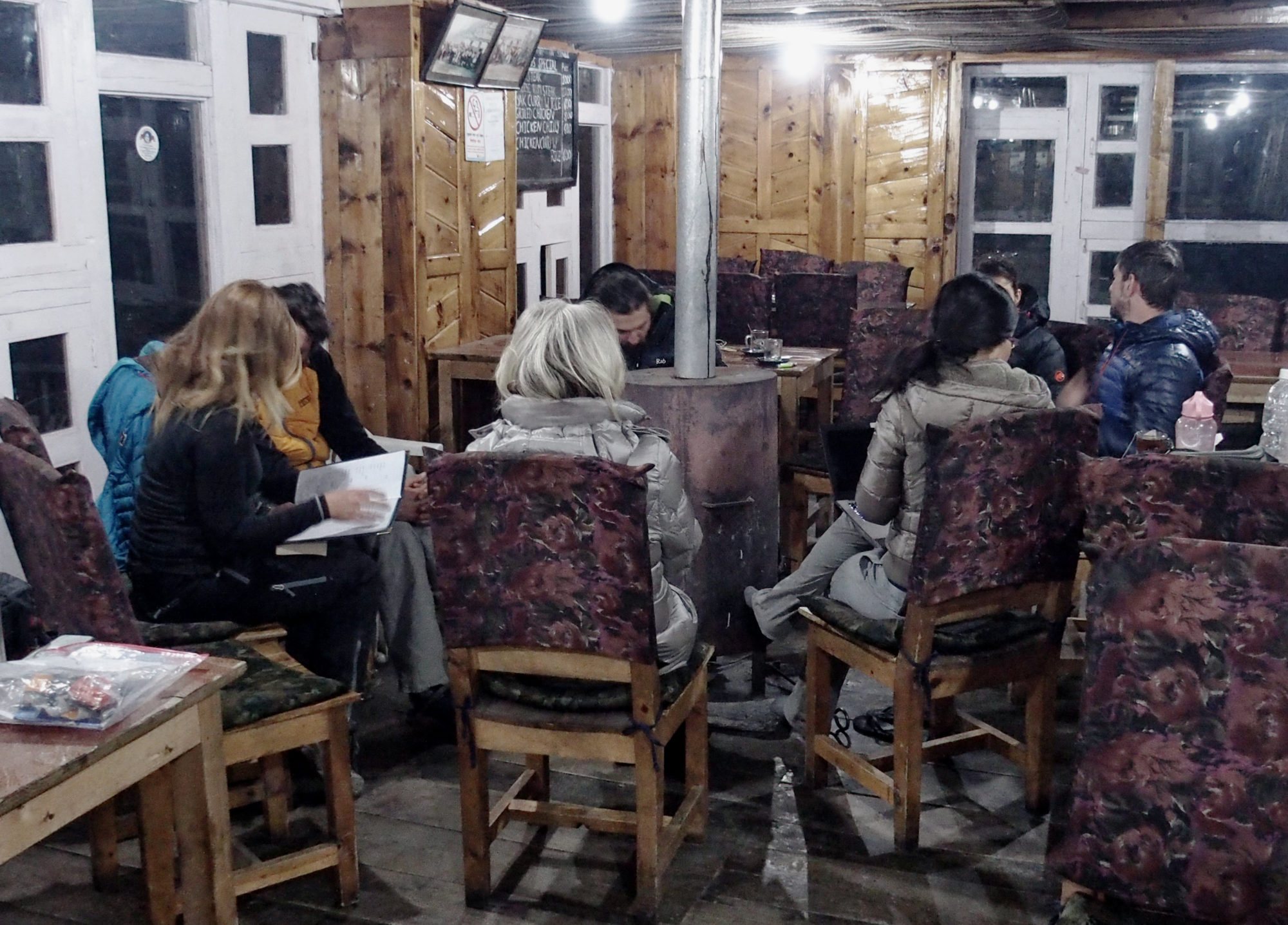 Gemütliches Teahouse in Manang