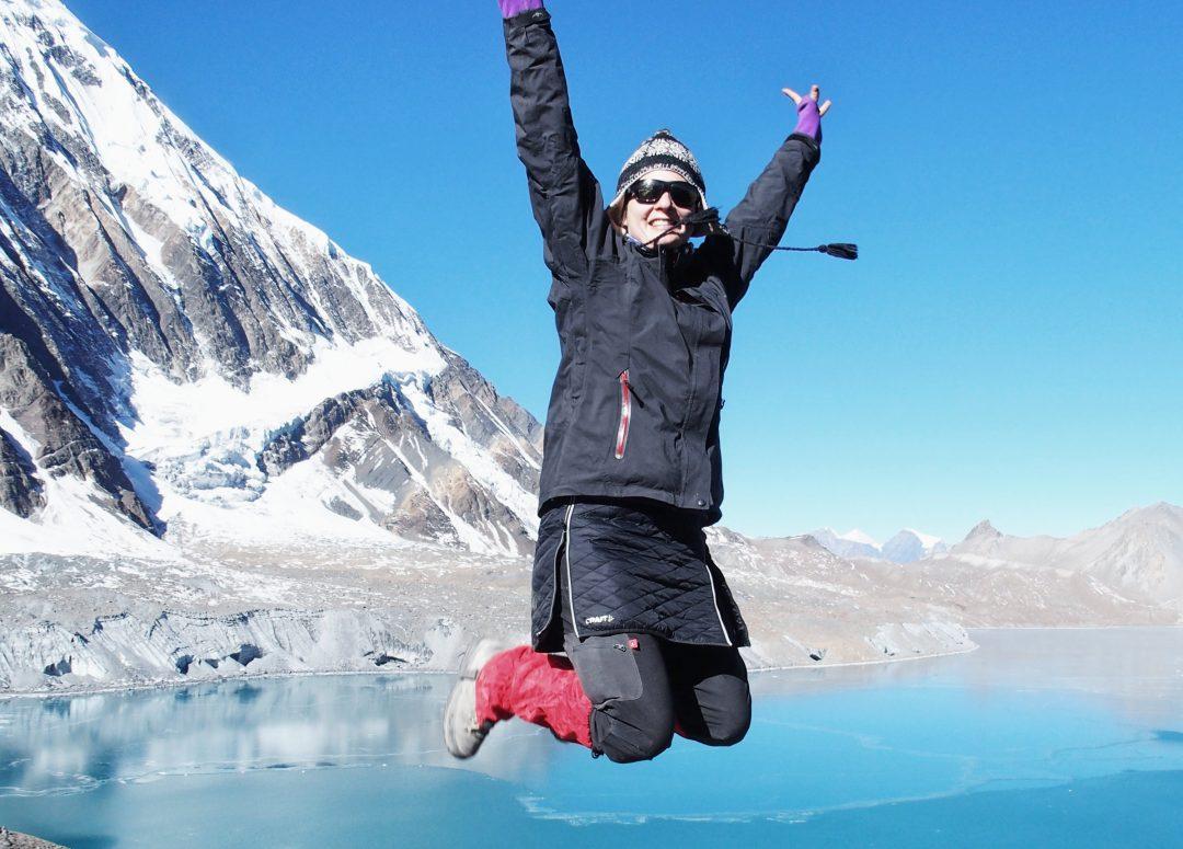 Yay, ich bin am höchsten See der Welt!