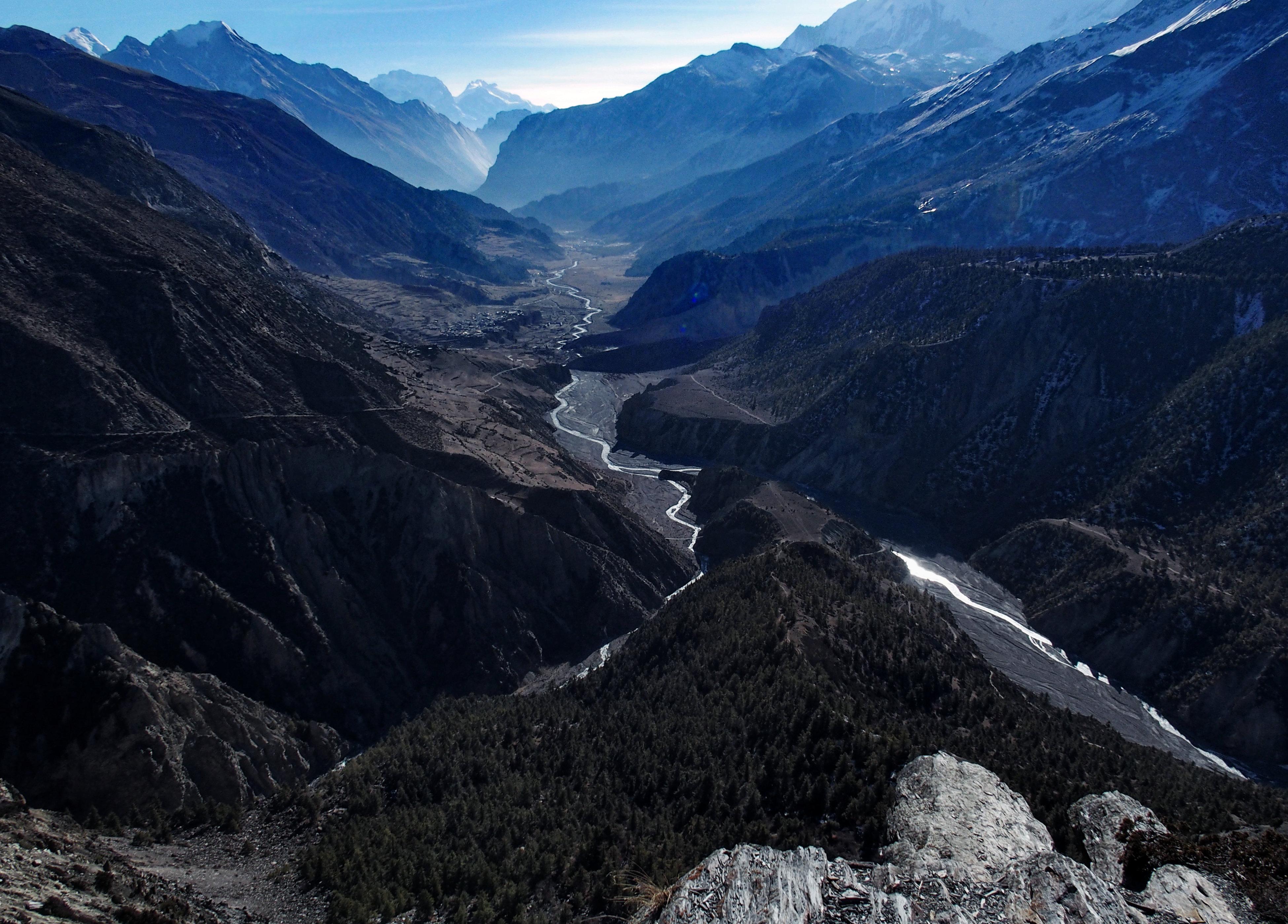 Atemberaubender Blick auf das Manang Tal