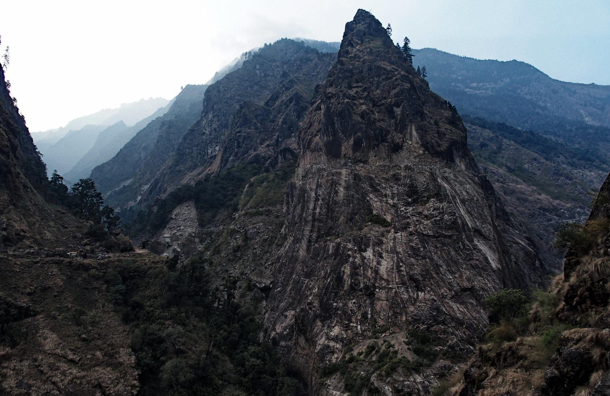 Ein toller Berg auf dem Annapurna Circuit