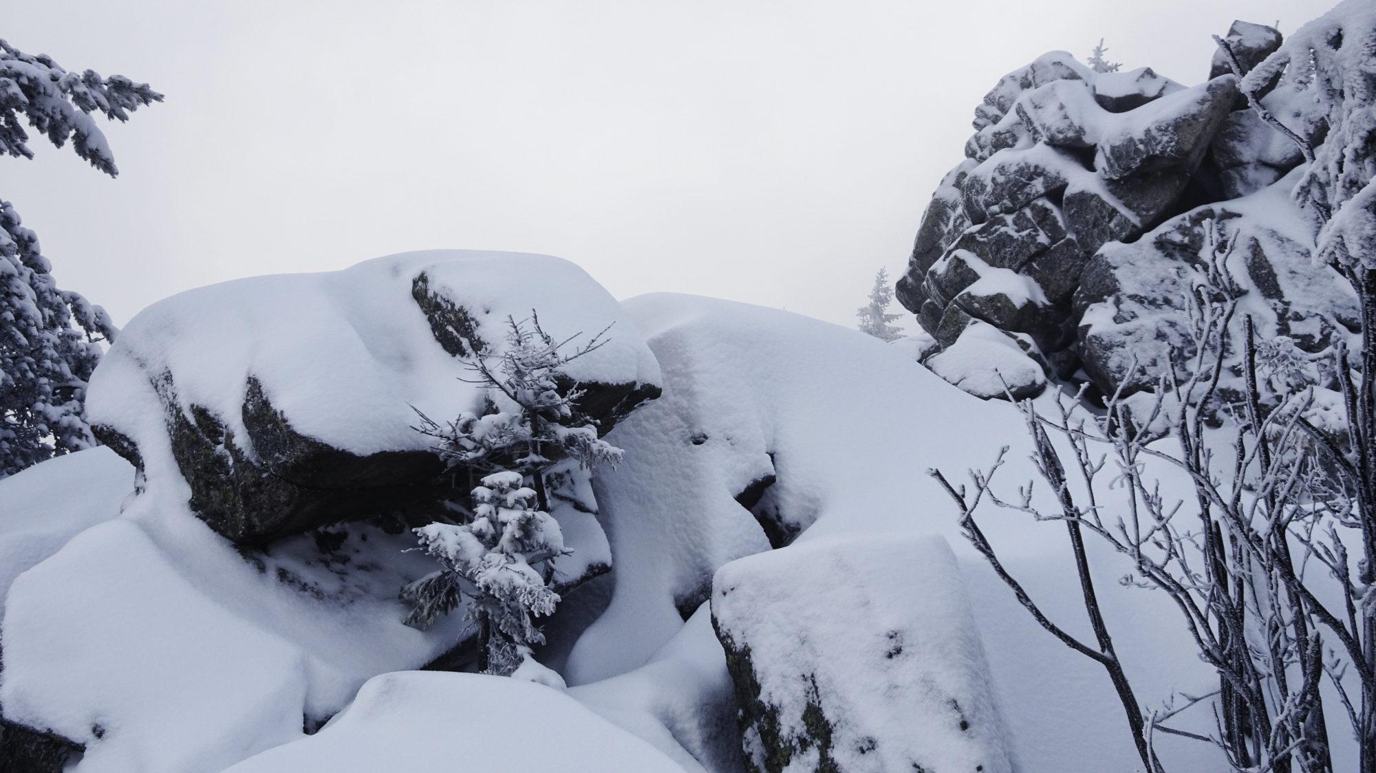 Auf dem Haberstein im Winter