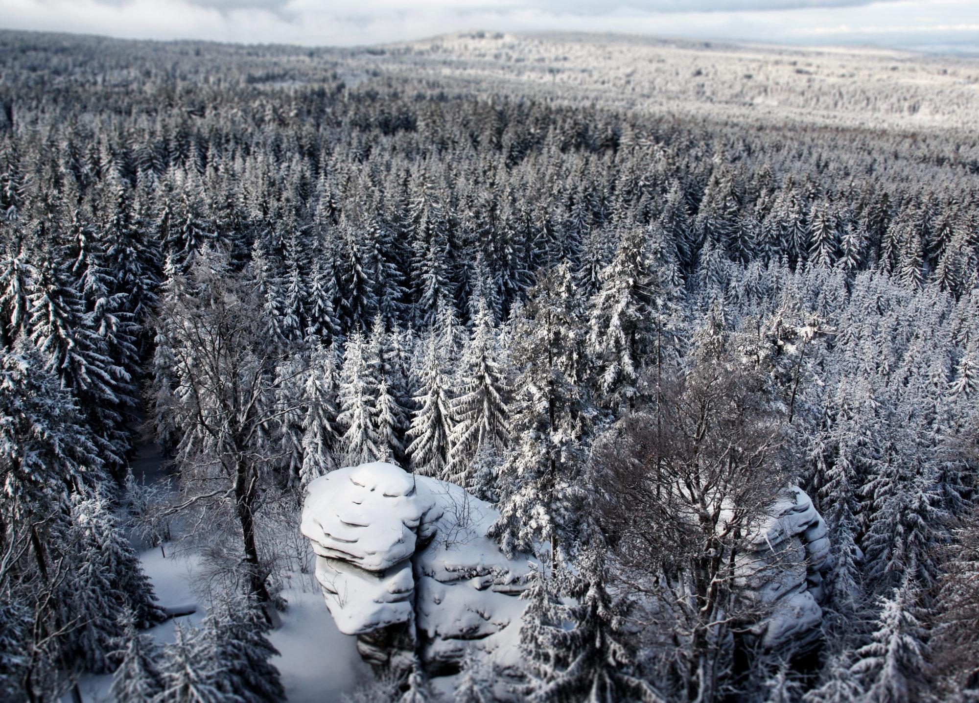 Aussicht vom Rudolfstein im Fichtelgebirge