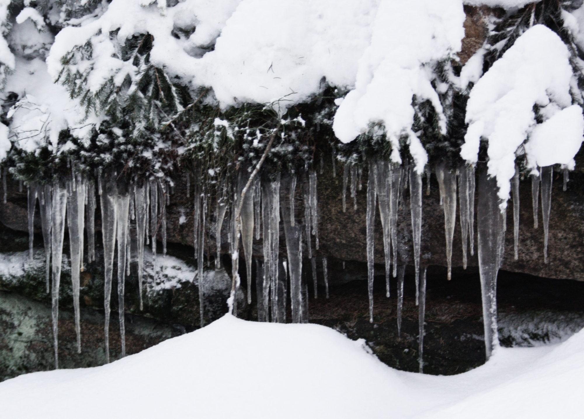 Eiszapfen am Rudolfstein