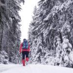 Wandern durch den weißen Wald im Fichtelgebirge