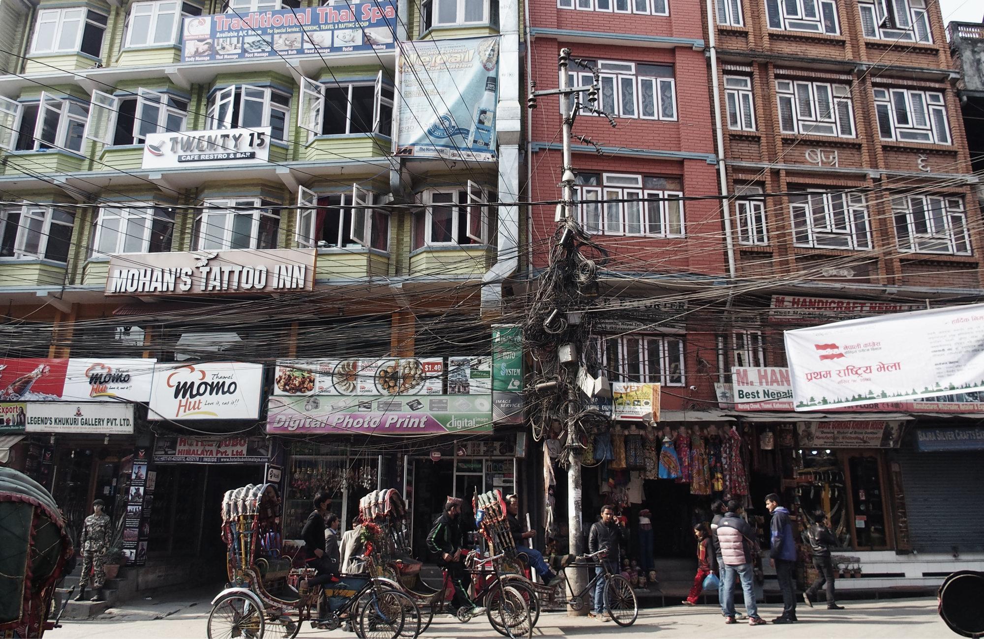 Chaotisches Kathmandu