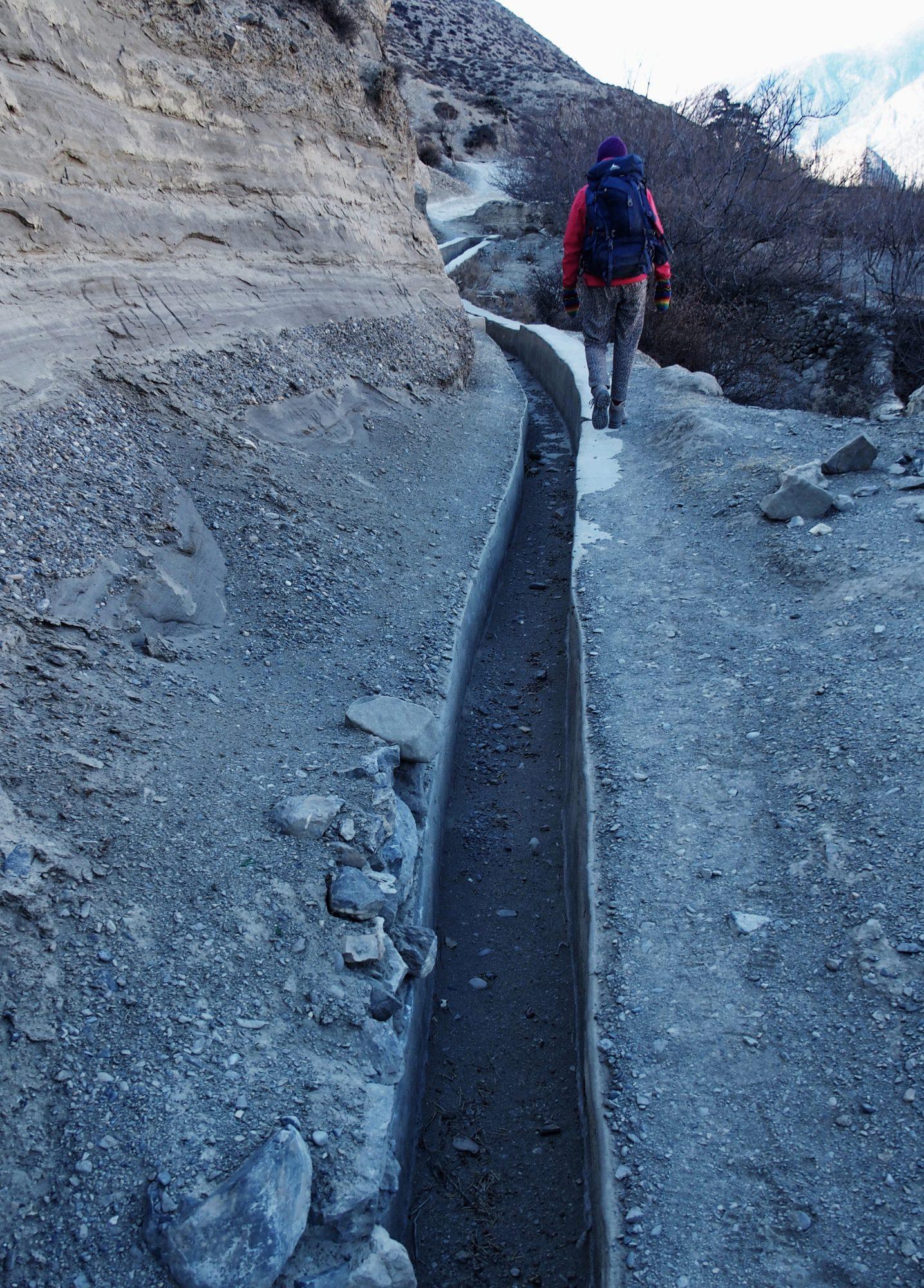 Annapurna Trekking entlang des Wasserkanals