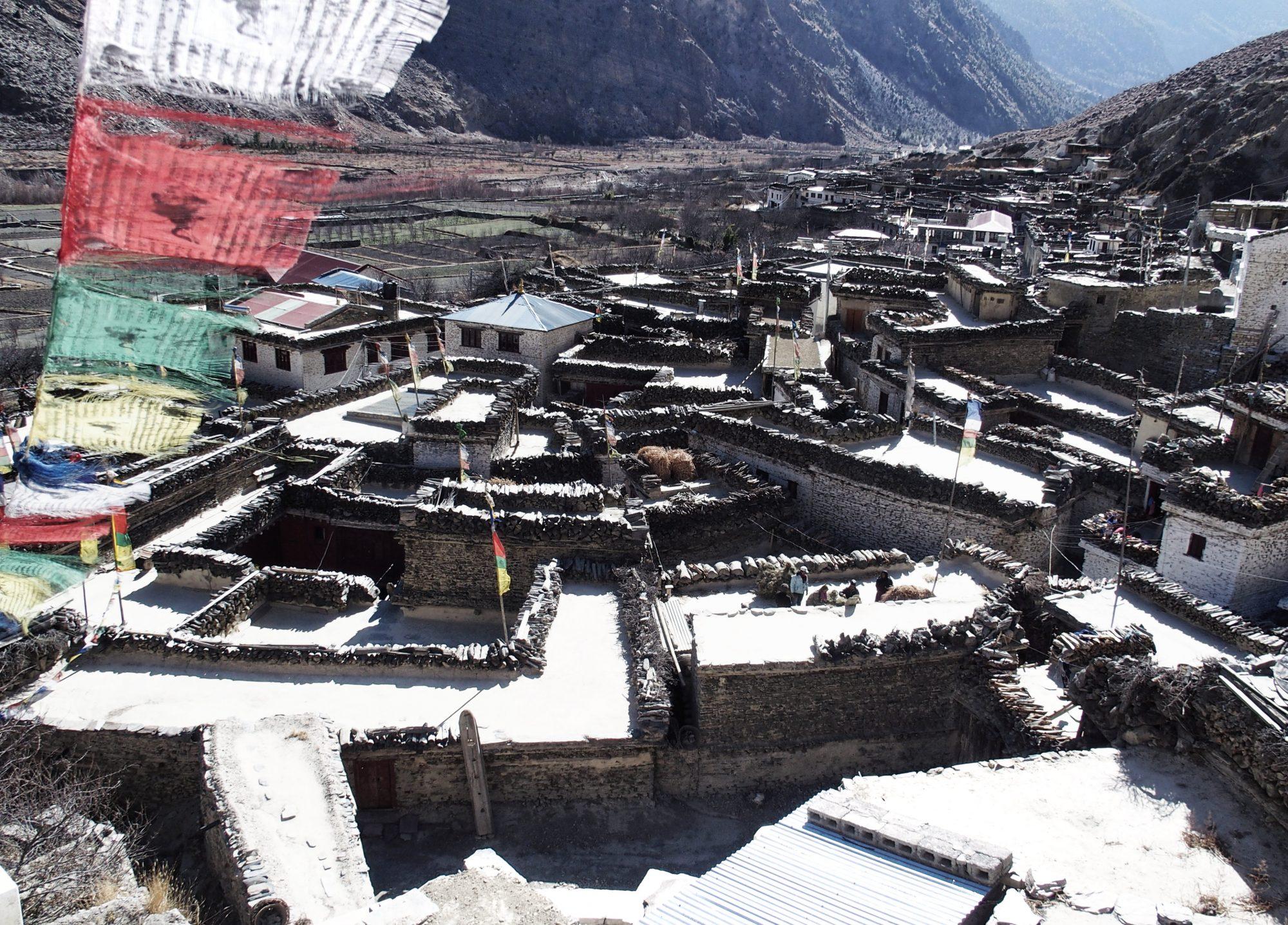 Die Dächer von Marpha. Annapurna Circuit Trekking