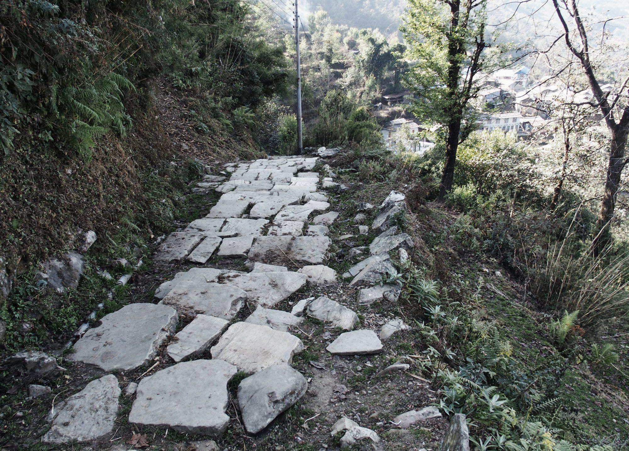 Treppen auf dem Annapurna Circuit