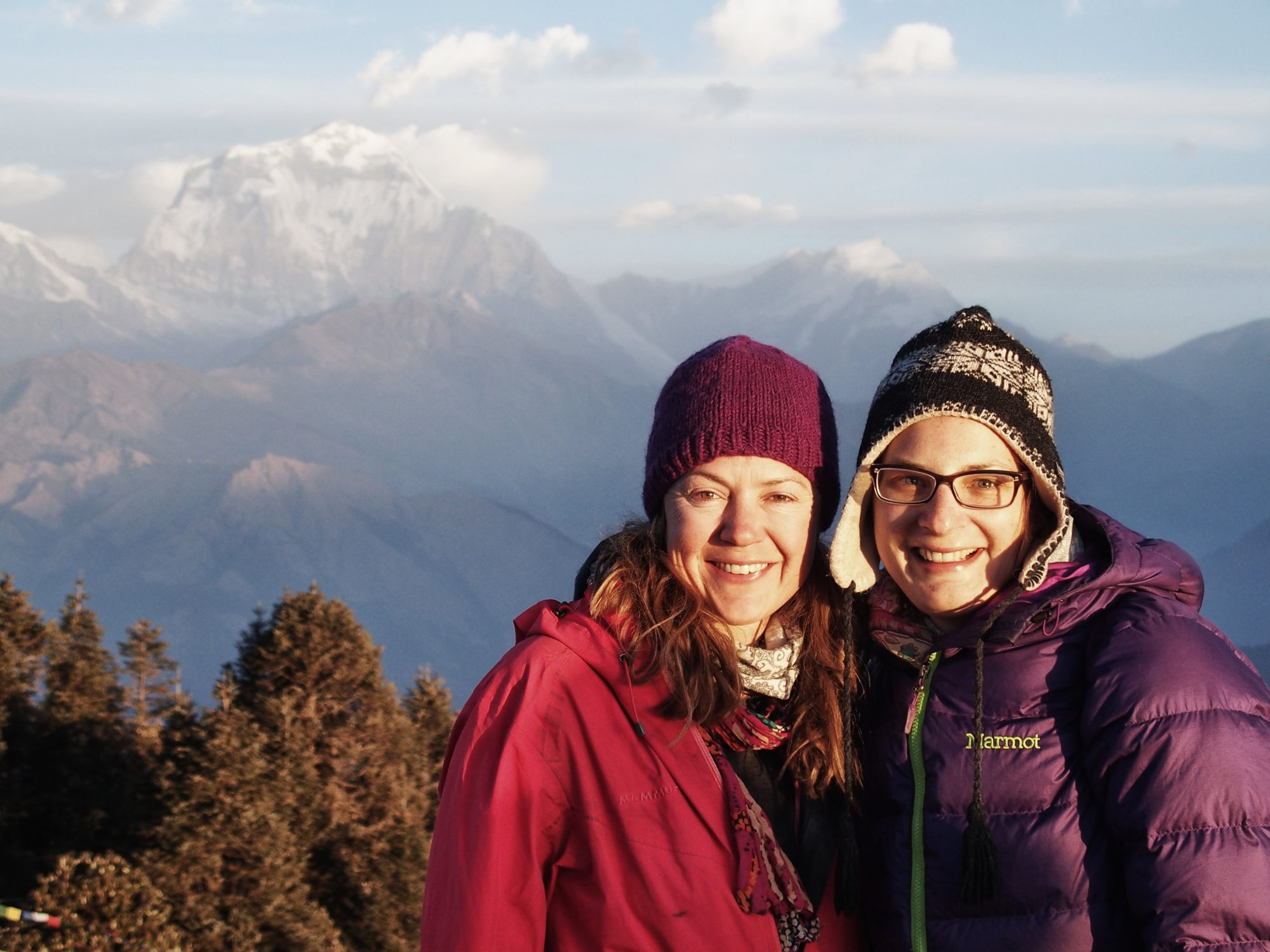 Happiness! Sonnenaufgang am Poon Hill. Annapurna