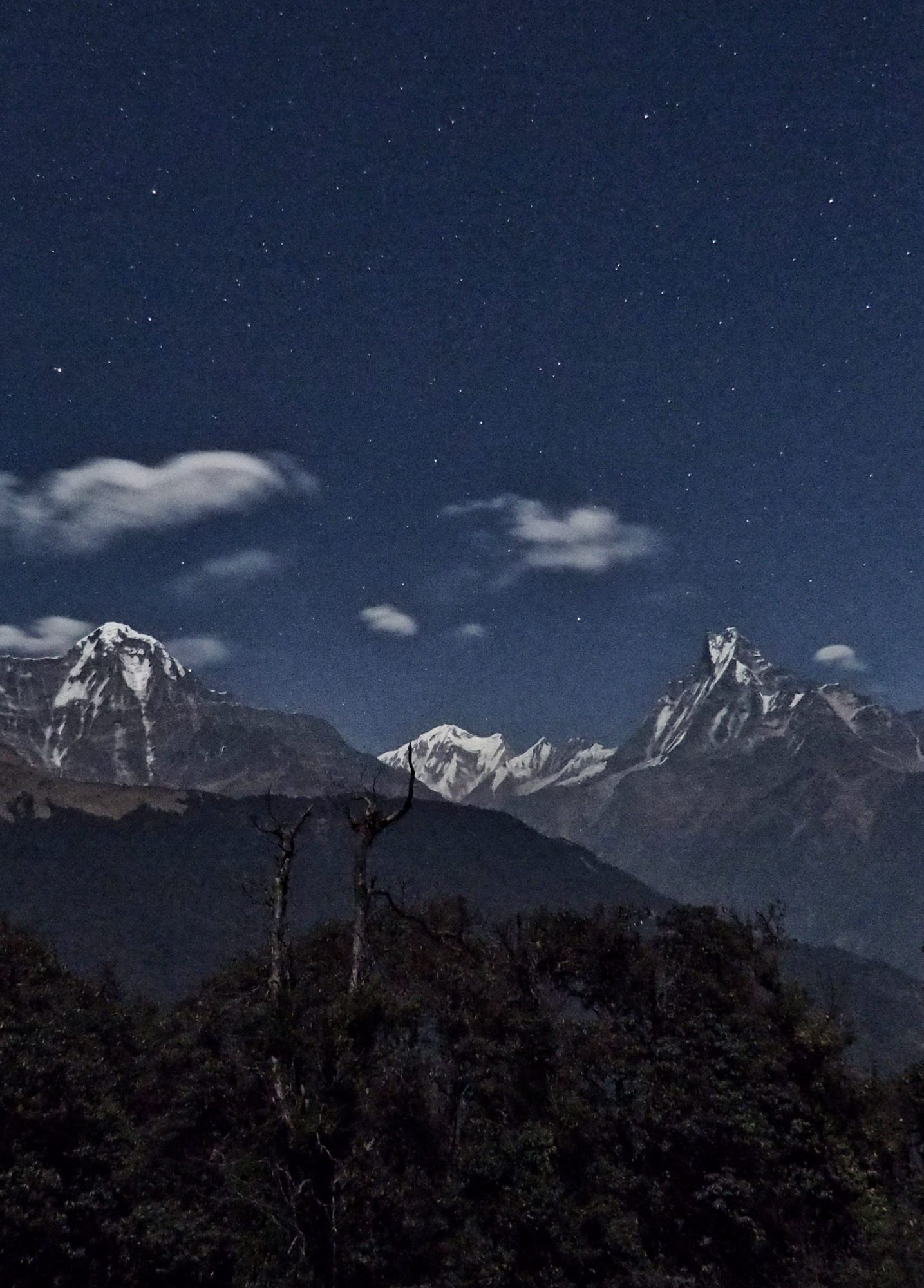 Sternenhimmel über Tadapani. Nepal