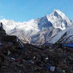 Blick von oben auf das Annapurna Base Camp
