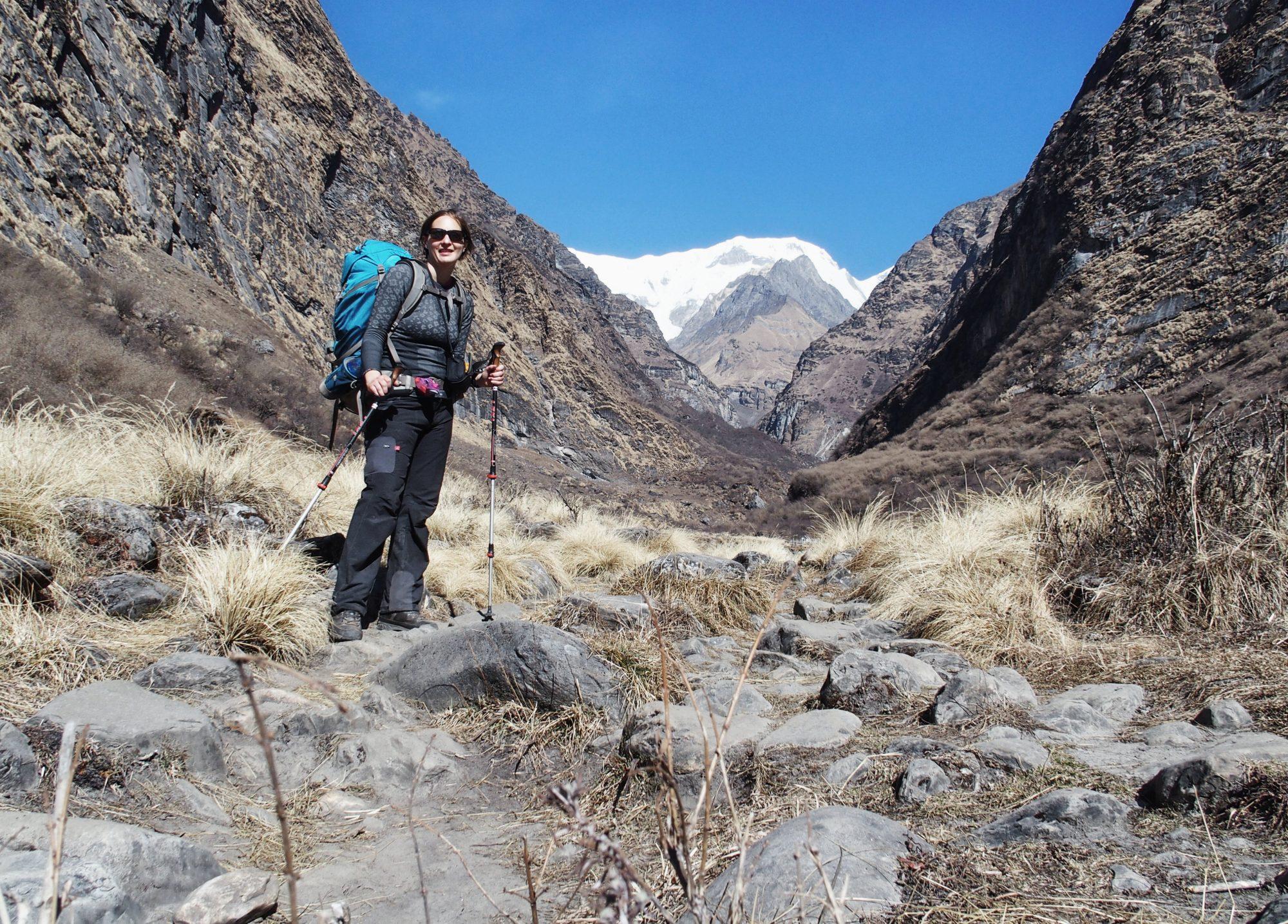 Ich hab es eher einsam auf dem Weg zum Annapurna Base Camp