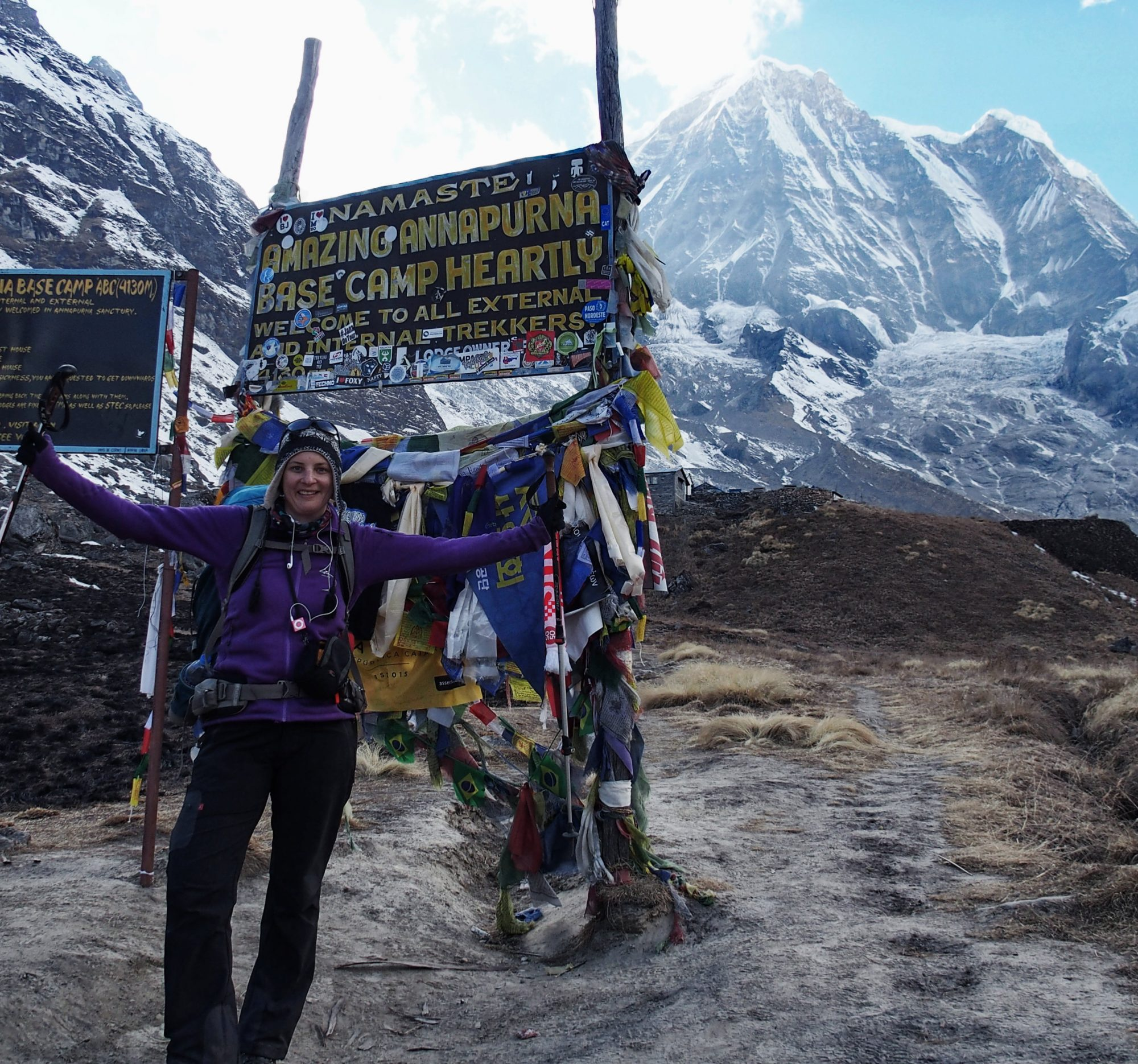 Annapurna Base Camp Schild