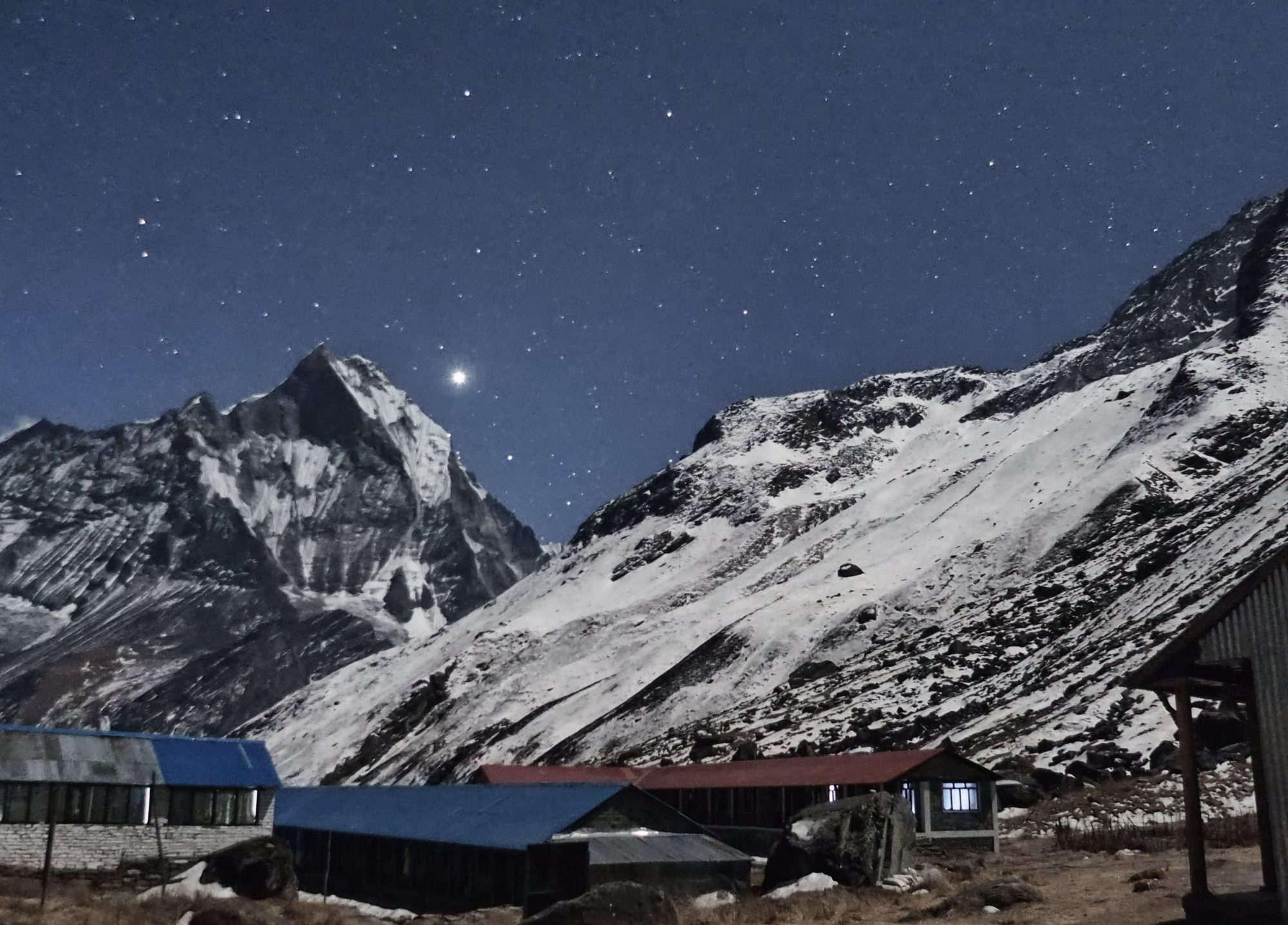 Sternenhimmel über dem Annapurna Base Camp