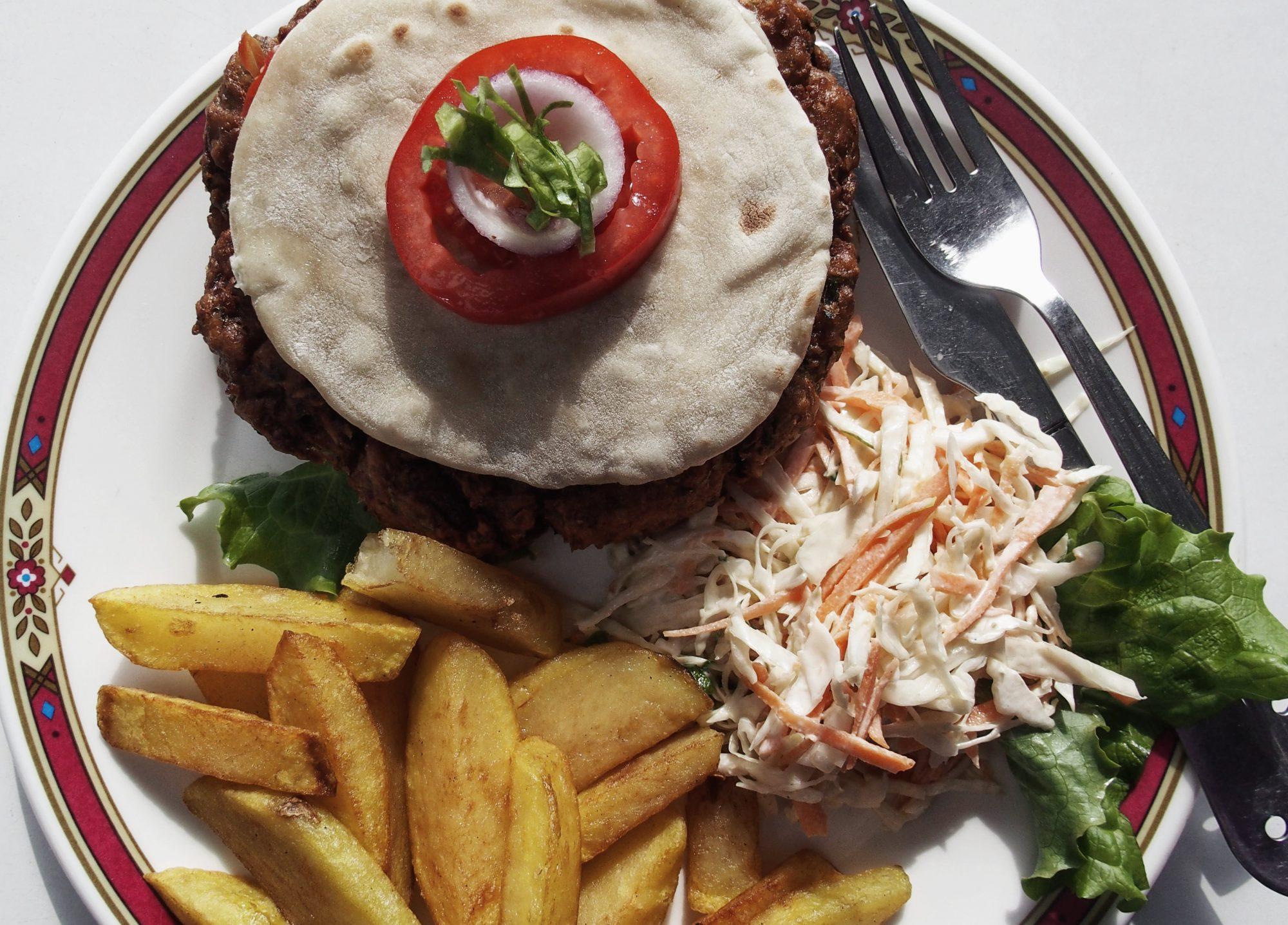 Super lecker Veggie Burger. Annapurna Base Camp Trek