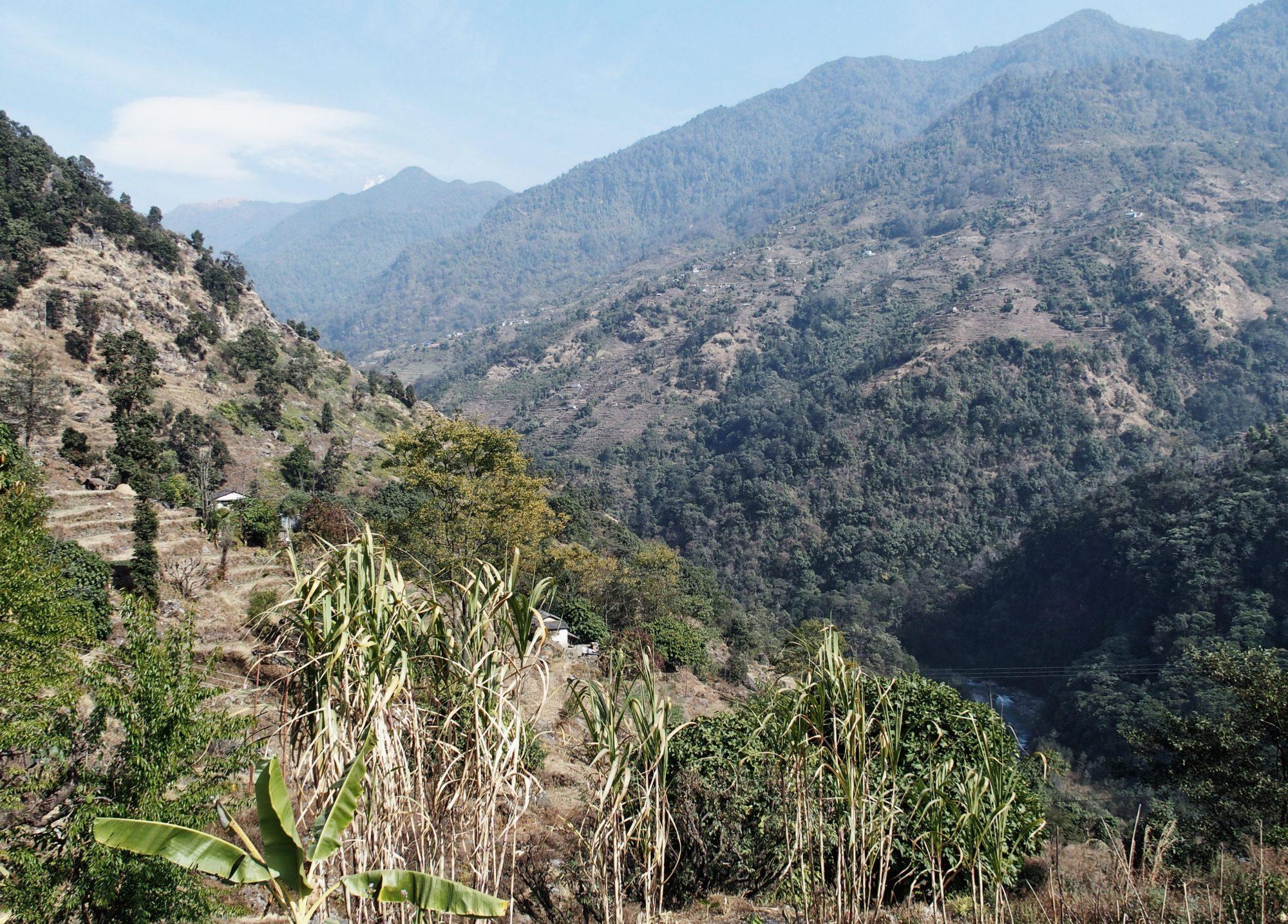 Abstieg vom Annapurna Base Camp