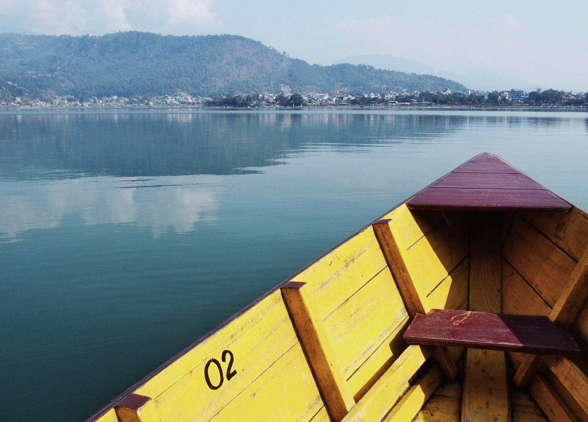 Bootstour über den Phewa See in Pokhara