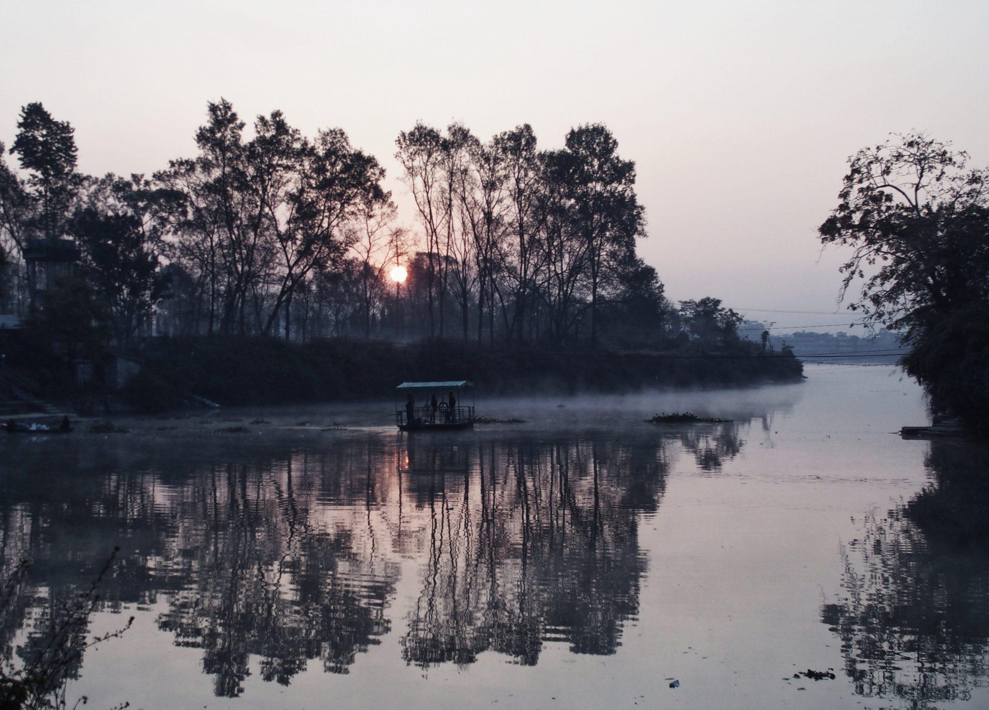 Phewa See zum Sonnenaufgang
