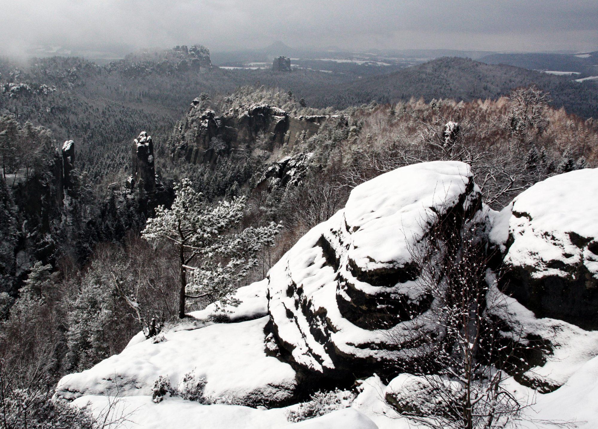 Carolafelsen, Elbsandsteingebirge, Sächsische Schweiz, Wandern, Wandertour