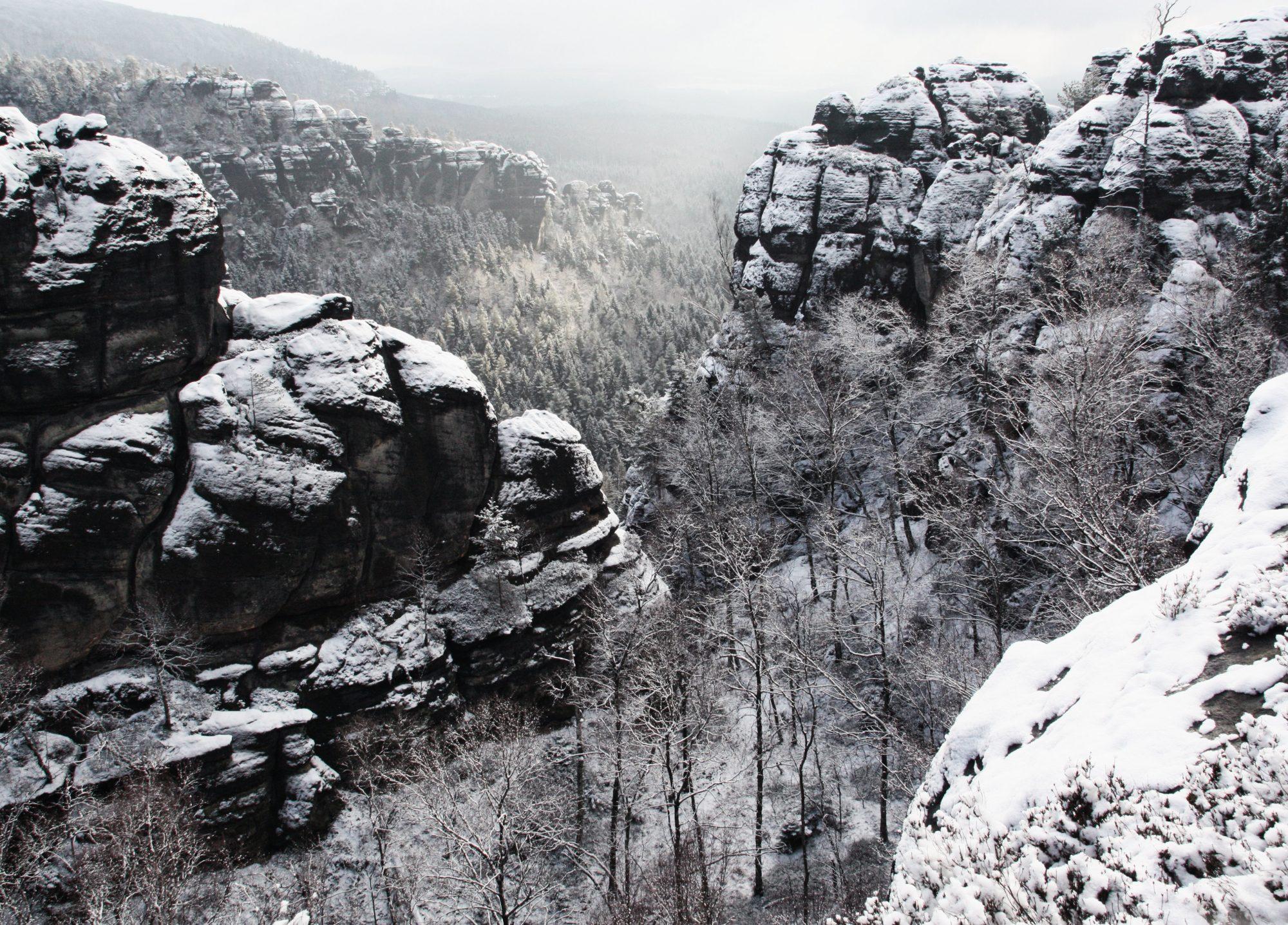Aussicht Dorn, Elbsandsteingebirge, Sächsische Schweiz, Wandern, Wandertour