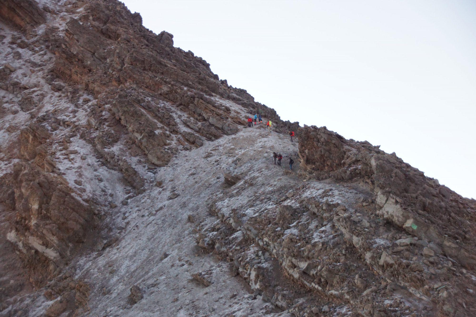 Die letzten Höhenmeter auf den Mount Meru, Mount Meru Besteigung, Tour, Erfahrungsbericht, Afrika, Tansania, Bergtour
