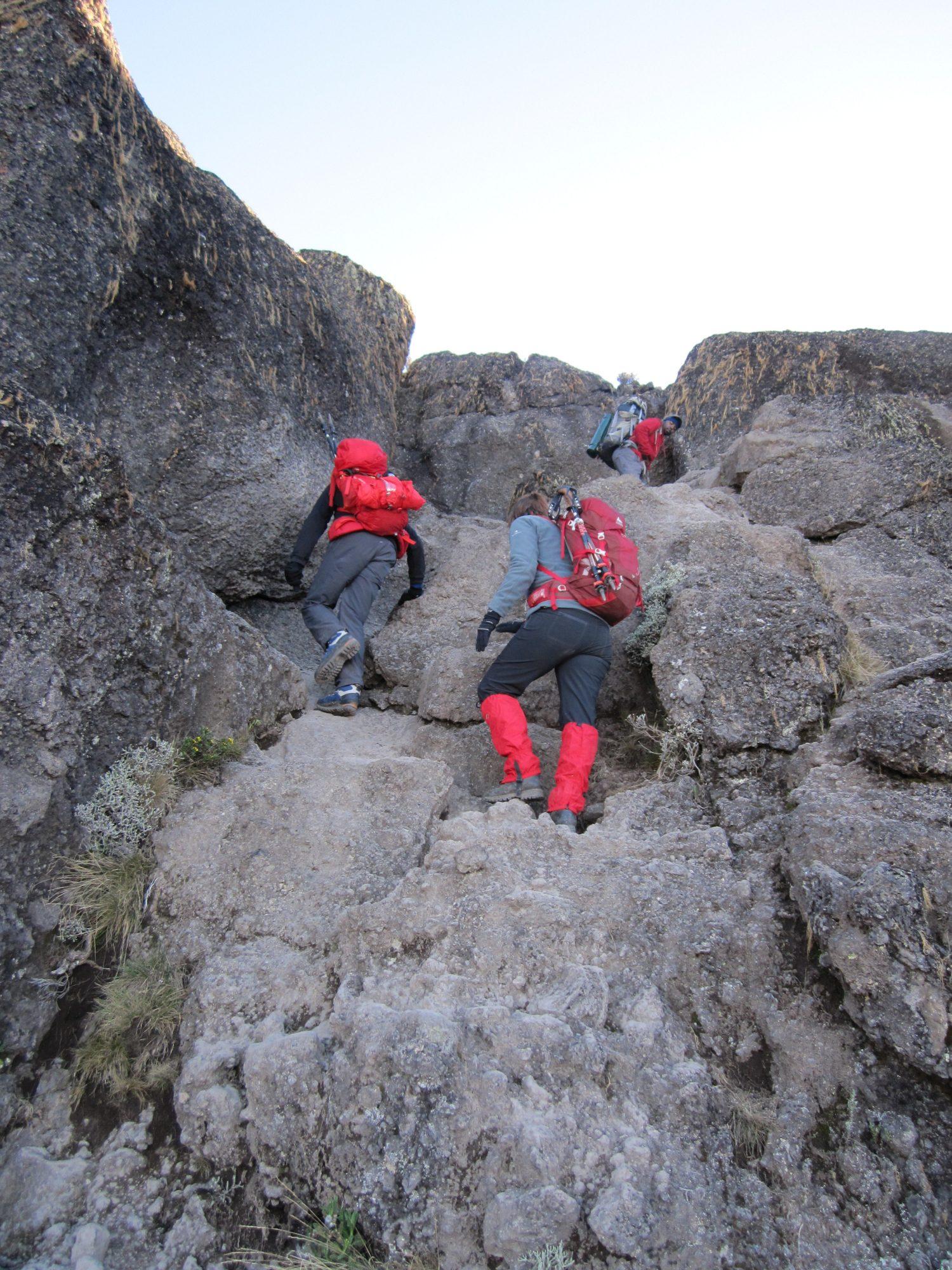 Breakfast Wall, Kilimandscharo, Kilimandscharo besteigen, Tansania, Afrika, Kilimandscharo Tour, Erfahrungsbericht, Machame Route