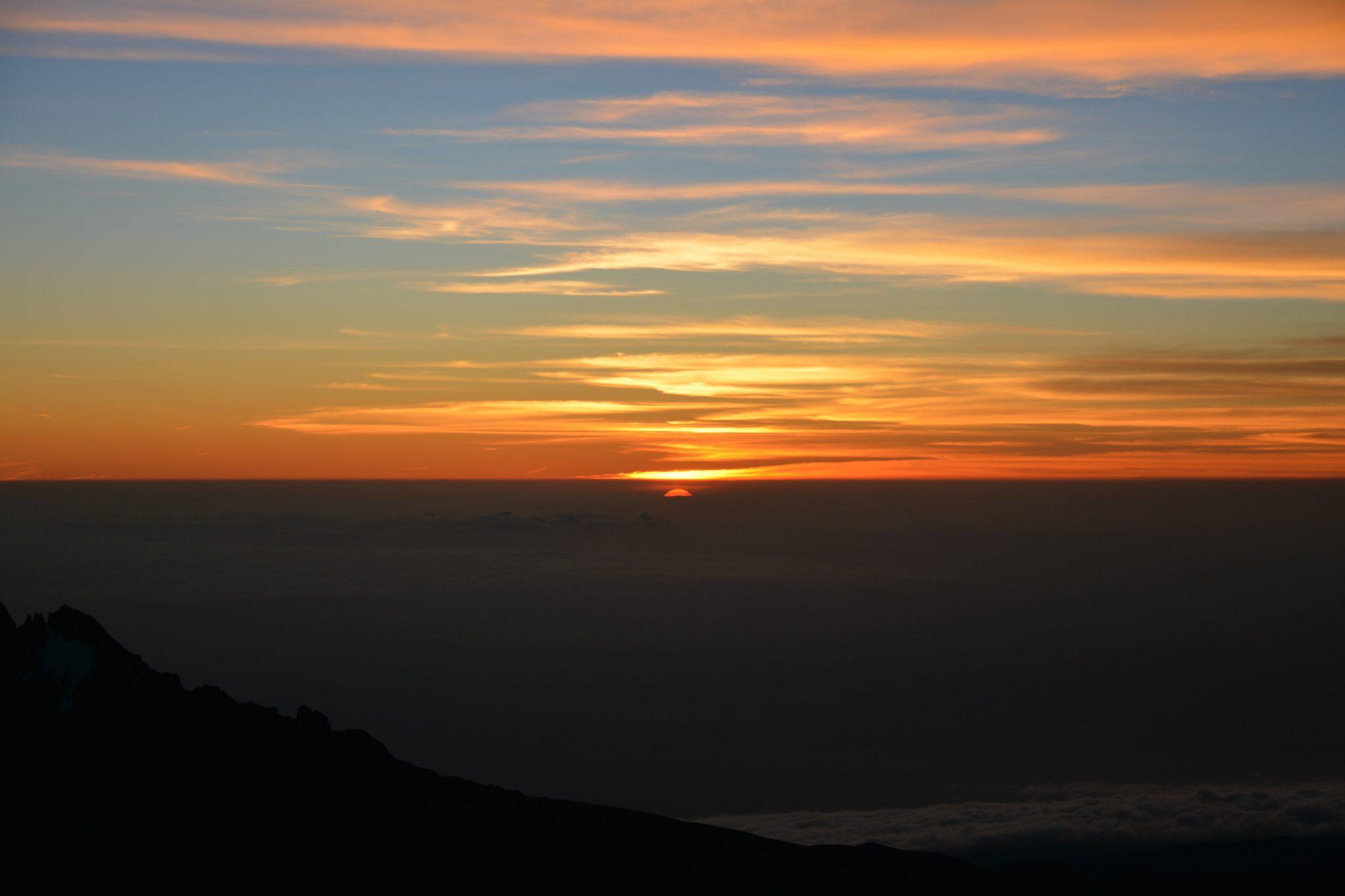 Sonnenaufgang am Kilimandscharo, Kilimandscharo, Kilimandscharo besteigen, Tansania, Afrika, Kilimandscharo Tour, Erfahrungsbericht, Machame Route