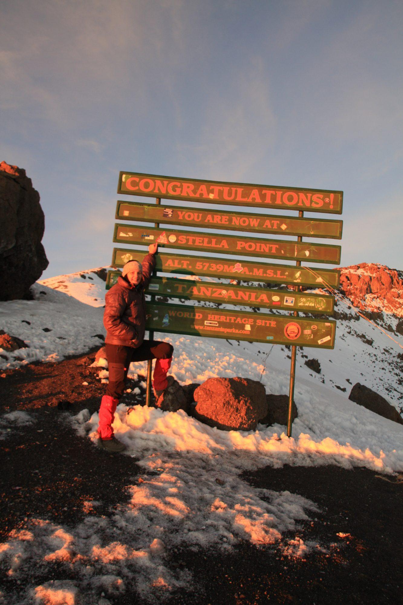 Stella Point, Kilimandscharo, Kilimandscharo besteigen, Tansania, Afrika, Kilimandscharo Tour, Erfahrungsbericht, Machame Route