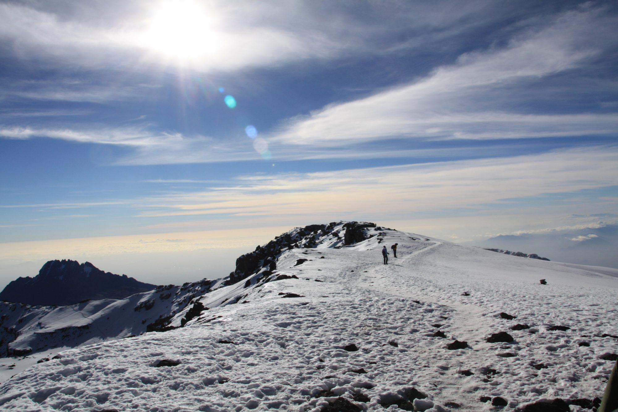 Schnee auf dem Kilimandscharo, Kilimandscharo besteigen, Tansania, Afrika, Kilimandscharo Tour, Erfahrungsbericht, Machame Route