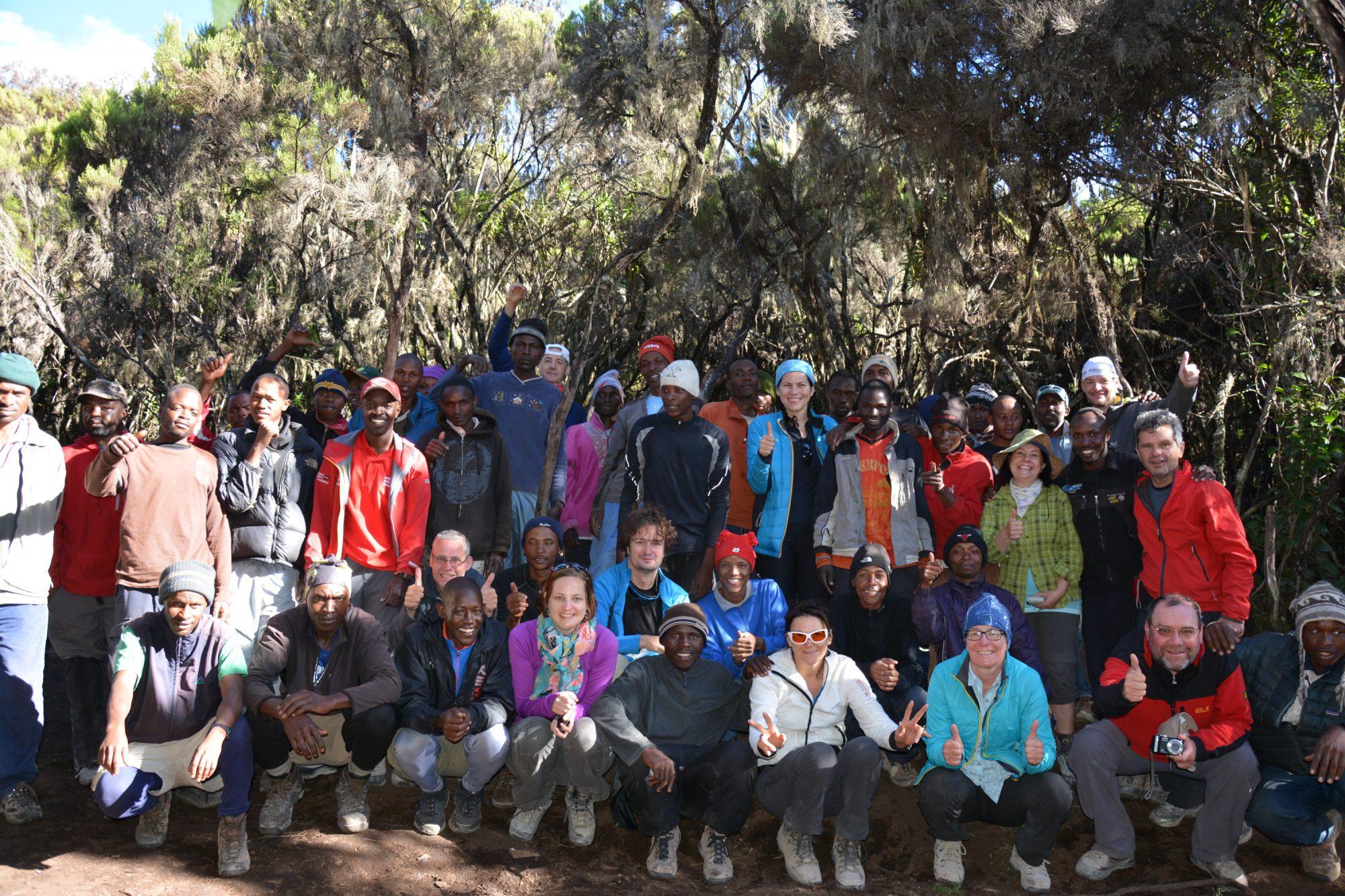 Gruppenfoto, Kilimandscharo, Kilimandscharo besteigen, Tansania, Afrika, Kilimandscharo Tour, Erfahrungsbericht, Machame Route