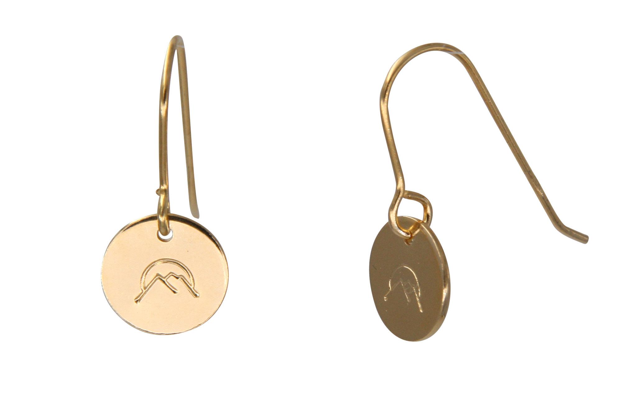 Fjella Bergfex Ohrringe, Handgestempelt, Bergschmuck, Bergohrringe