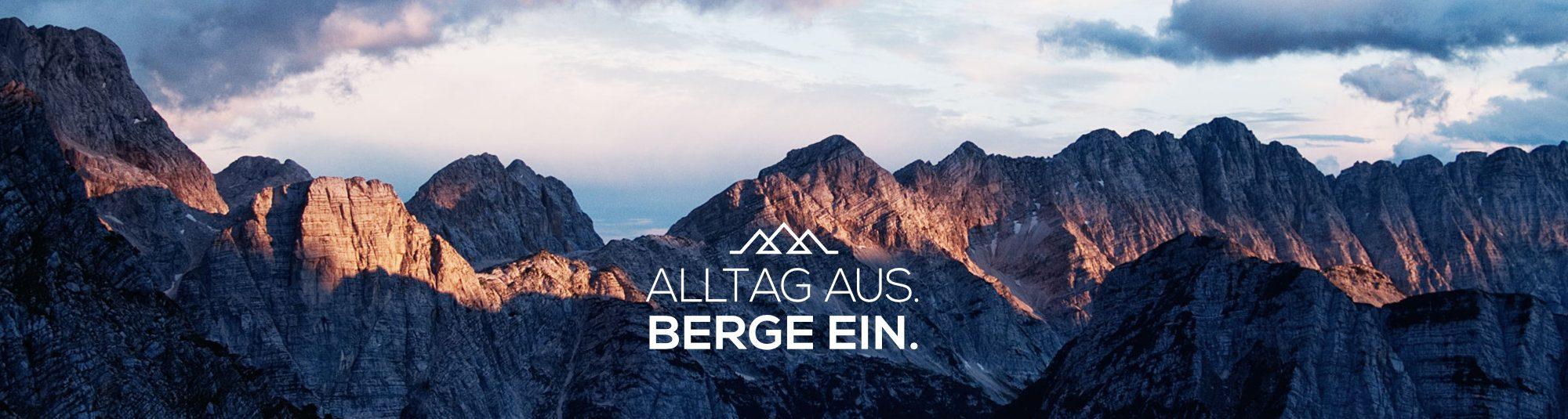 Fjella mit Slogan Alltag aus berge ein