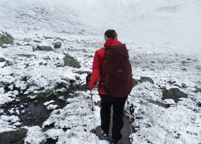 Wandern im Schnee, Packliste Hüttentour, Packliste Alpenüberquerung, Wandern, Mehrtagestour,