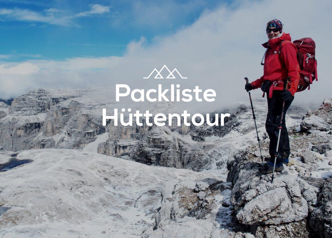 Packliste Hüttentour, Packliste Alpenüberquerung, Wandern, Mehrtagestour,