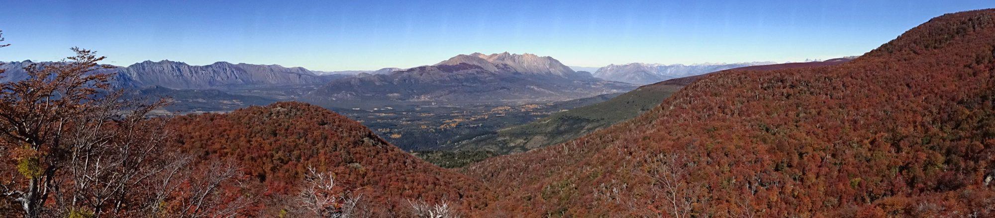 Fjella El Bolson Wanderung Patagonien Warton Dedo Gordo Encanto Blanco Wanderroute Wandern Herbstfarben