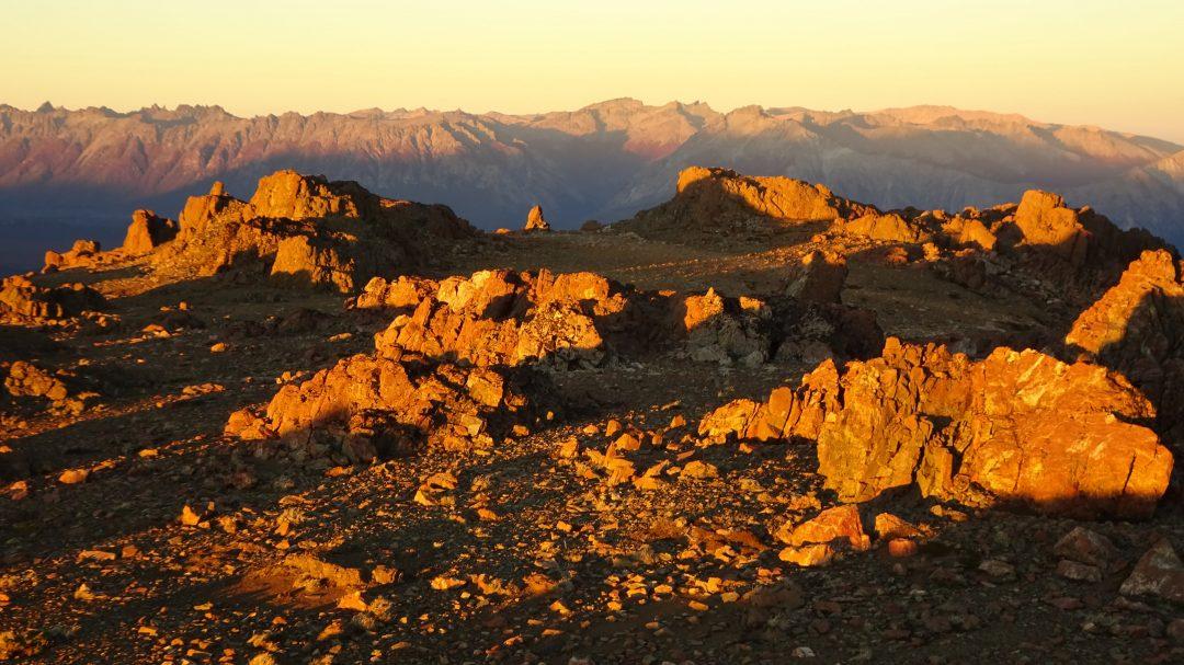 Fjella El Bolson Bergglühen Wanderung Patagonien Warton Dedo Gordo Encanto Blanco Wanderroute Wandern