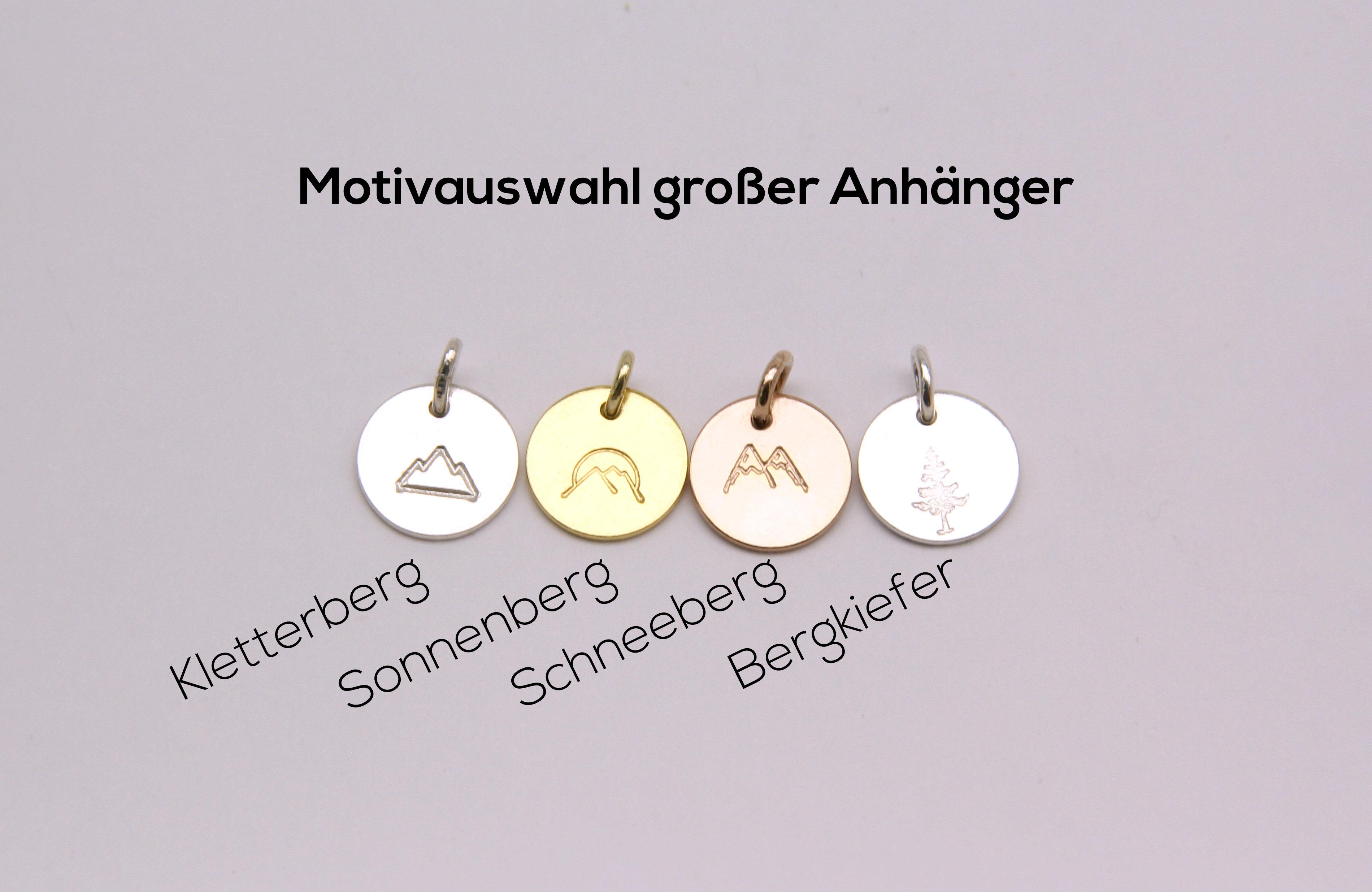 Bergfex Ketten | Handgestempelte Halsketten mit Bergmotiven